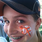 San Francisco Giants Spring Training Sports Face Painting Scottsdale