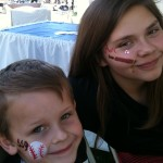 SpringTraining Baseball Face Painting