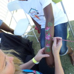Roses face painting Scottsdale Tempe Arizona