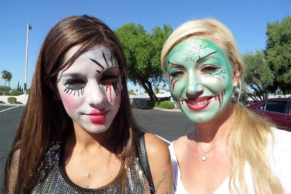 Painitng models at Channel 3 TV's Good Morning Arizona!