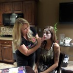 scary doll face painting