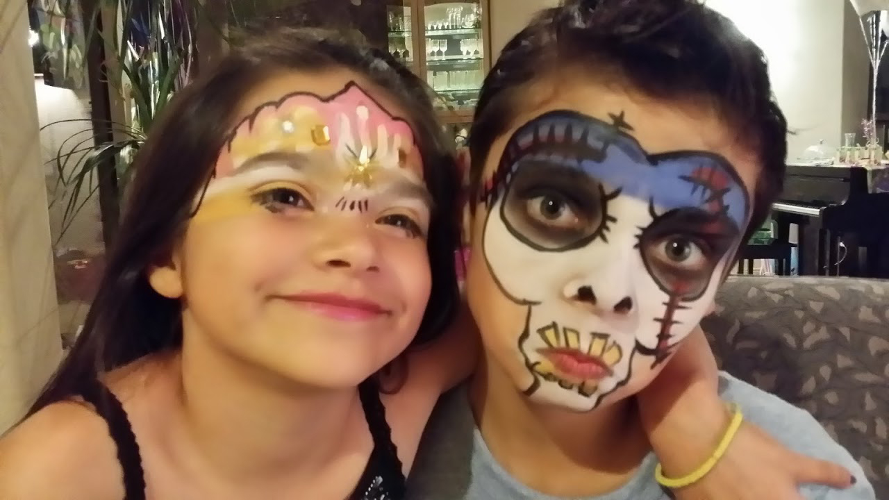 Birthday parties candy face painting for Face painting for parties
