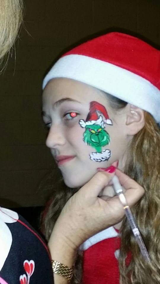 Christmas Face Paint.Scottsdale Face Painting Childrens Entertainment Parties Events